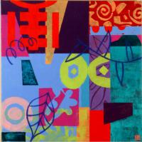 """16"""" x 16"""", mixed, SOLD"""